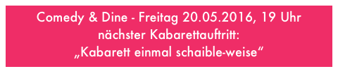 Kabarettistische Moderation am 16. April 2016: